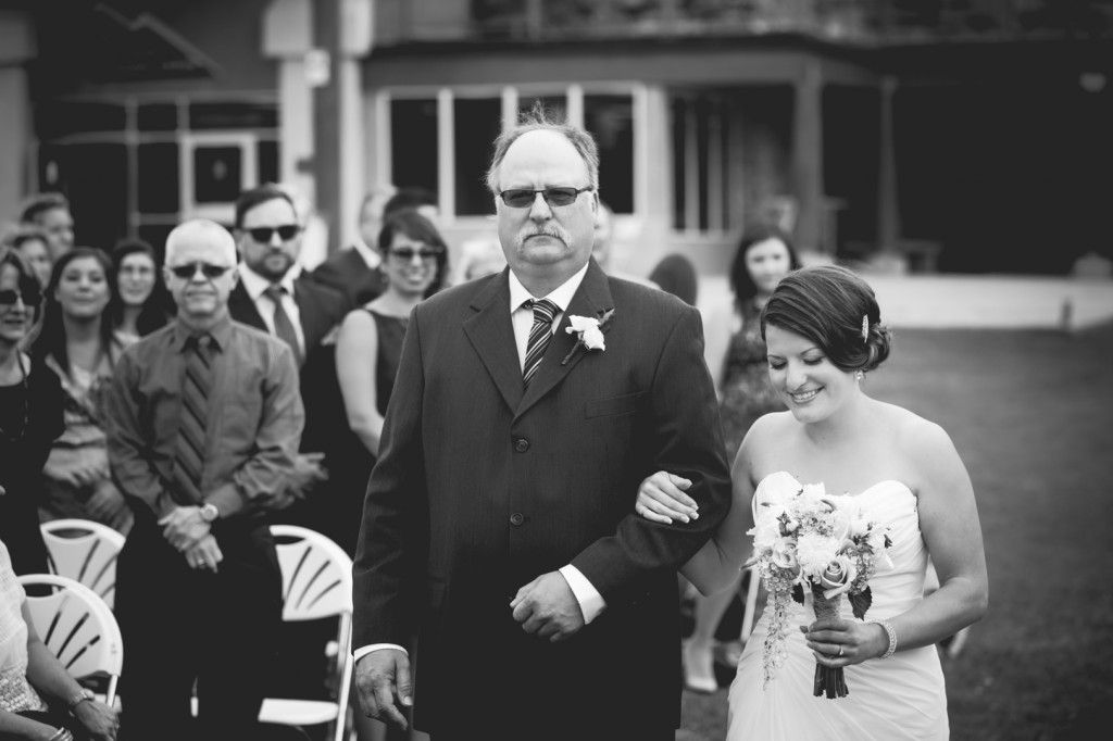 Bride and Father At A Snow Valley Wedding