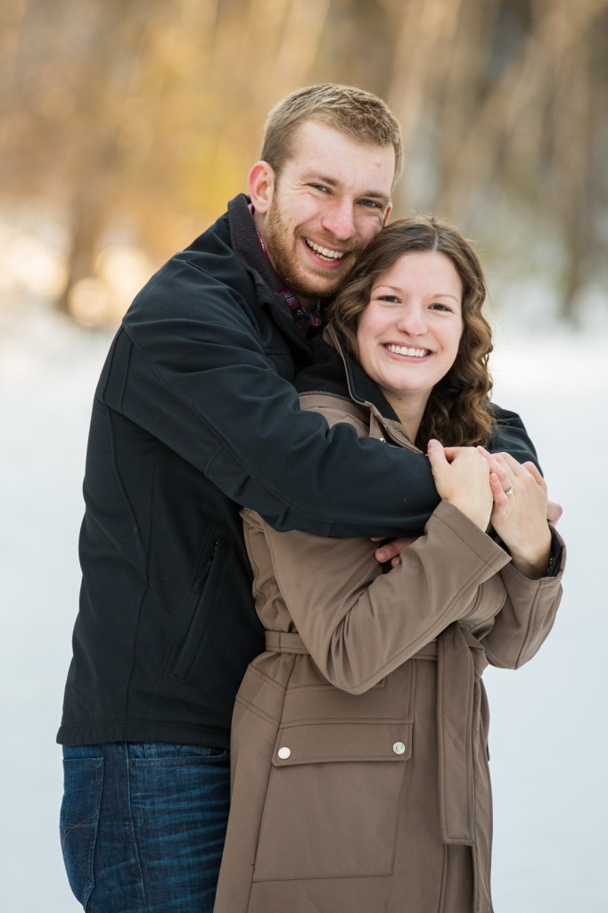 Cute Winter Engagement Photos Edmonton