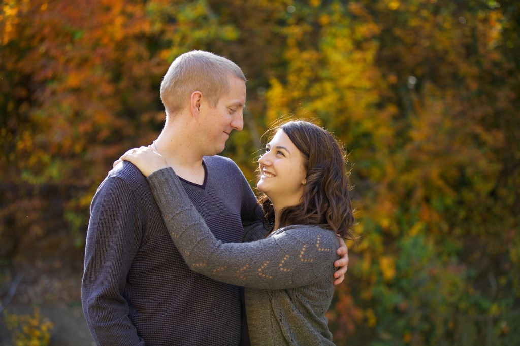 Mill Creek Ravine Engagement Photos In Autumn
