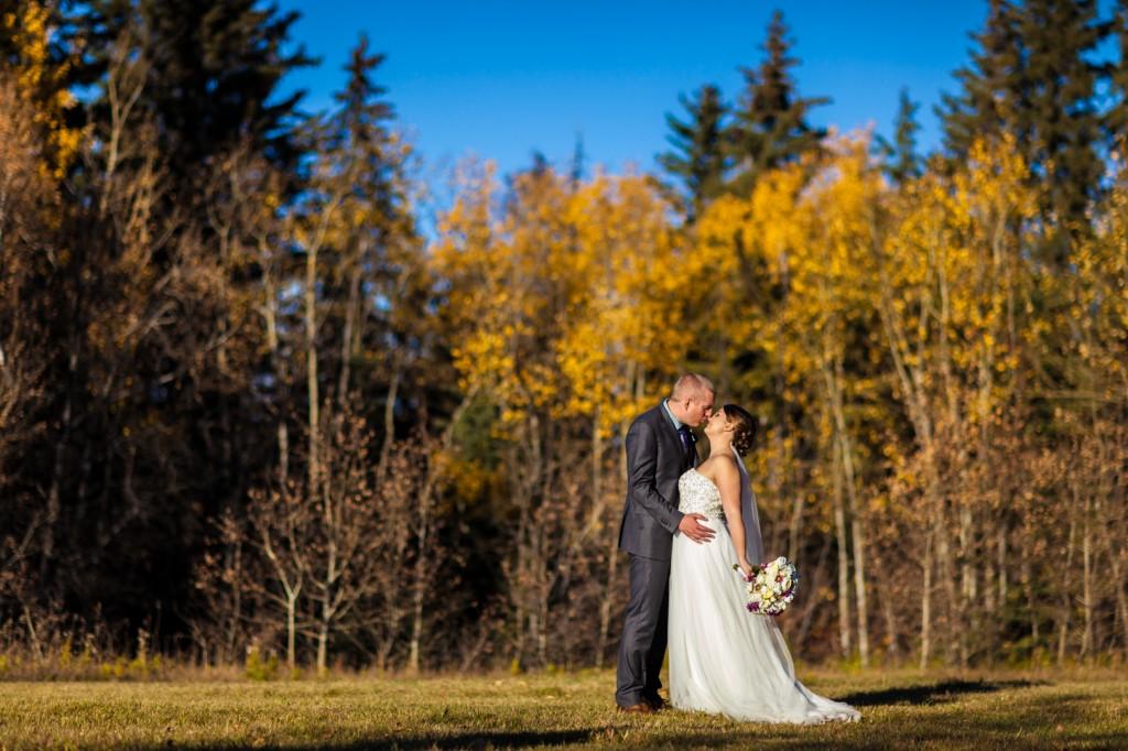 Red Deer Autumn Wedding