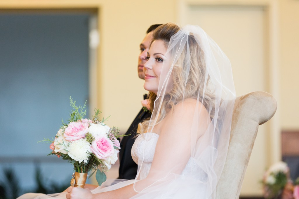 Photo of Bride During Ceremony