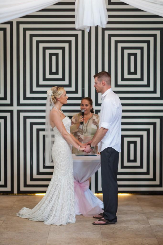 Destination Wedding Indoor Ceremony