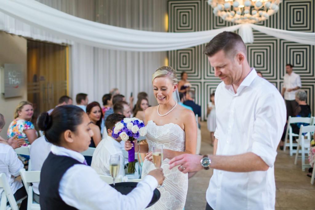 Destination Wedding Champagne Toast