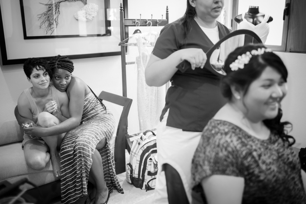 Dreams Cancun Destination Wedding - Bride in Salon