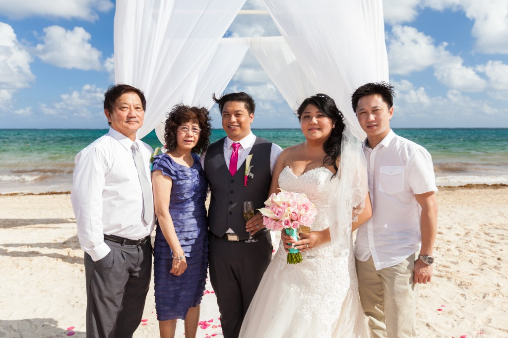 Destination Wedding Family Portrait