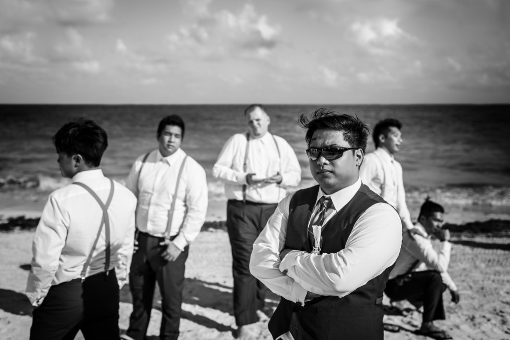 Dramatic Groomsmen Photo
