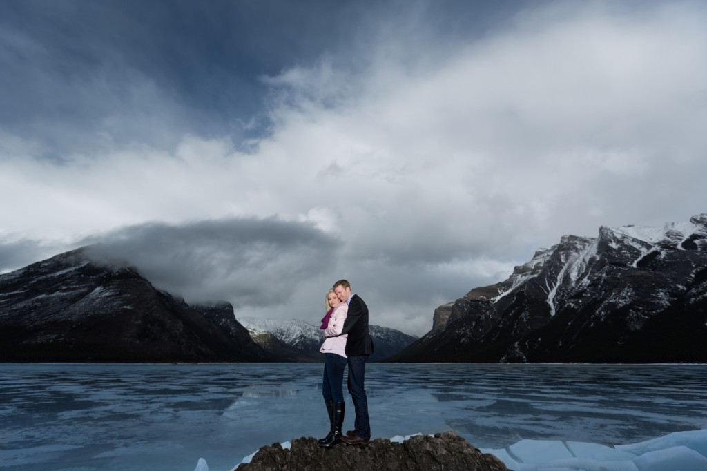 Lake Minnewanka Spring Engagement