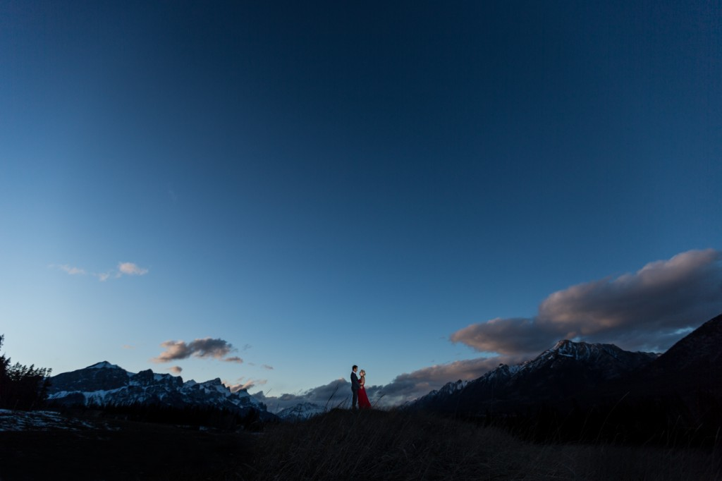 Sunset Engagement Photos in the Mountains