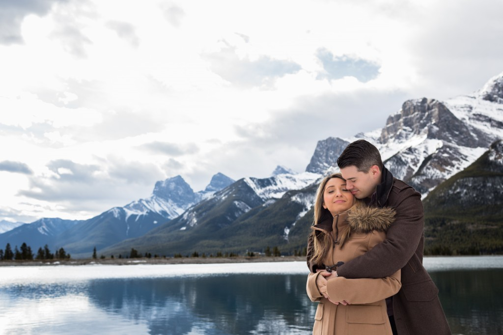 Canmore Mountain Engagement Photos