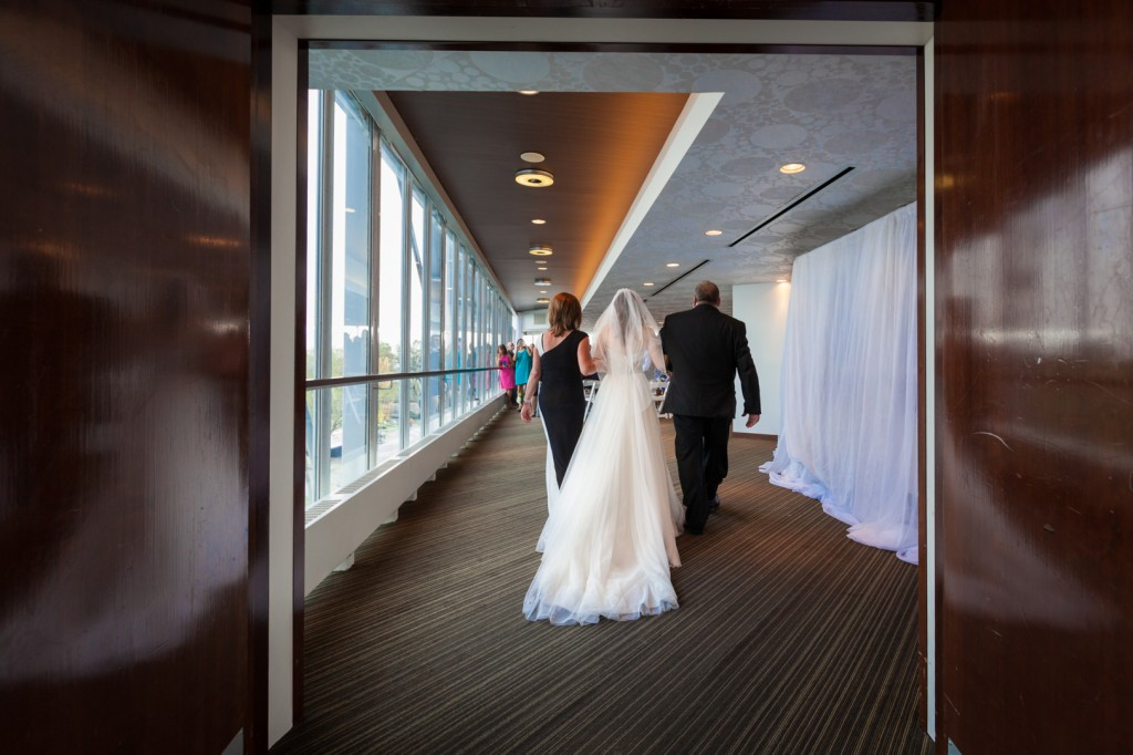 Photo of Bride and her Parents at her Atlantis Pavilion Wedding In Toronto