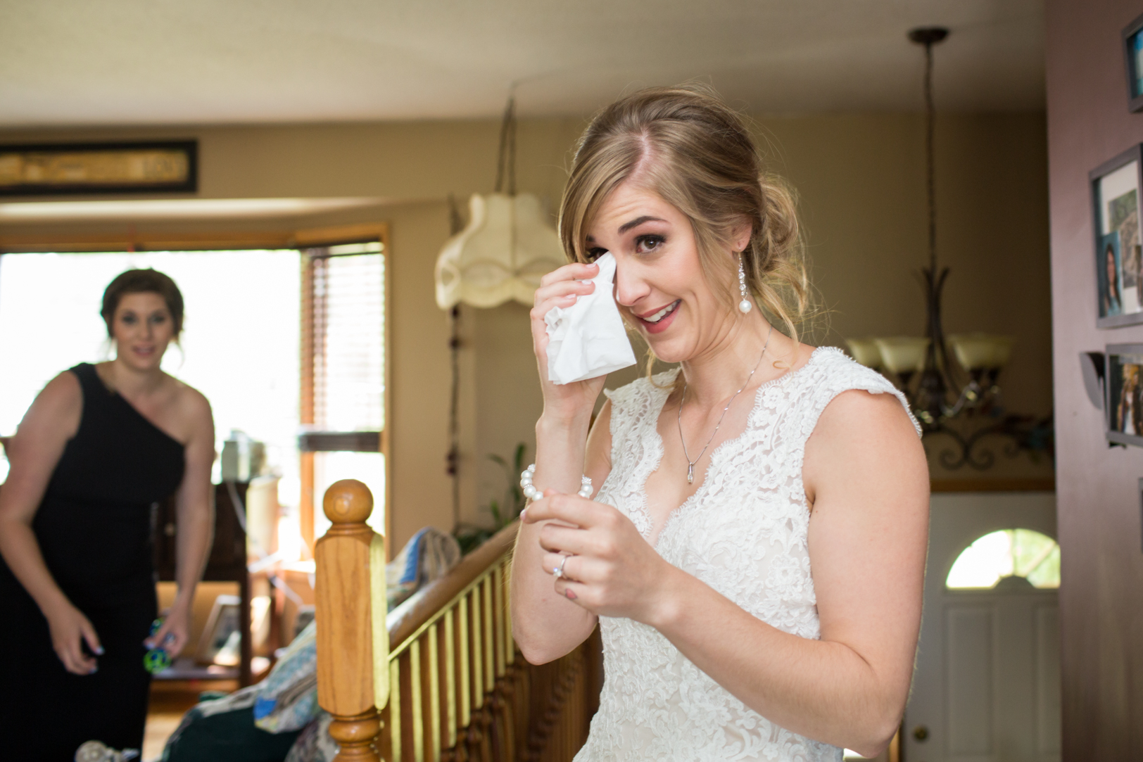 Photo of Bride Before First Look