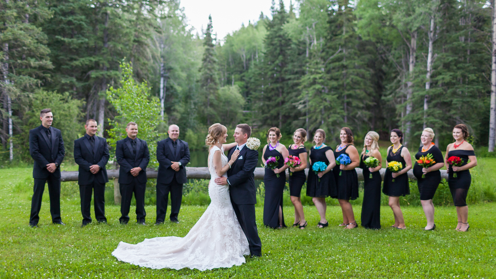 Outdoor Country Wedding Party Portraits