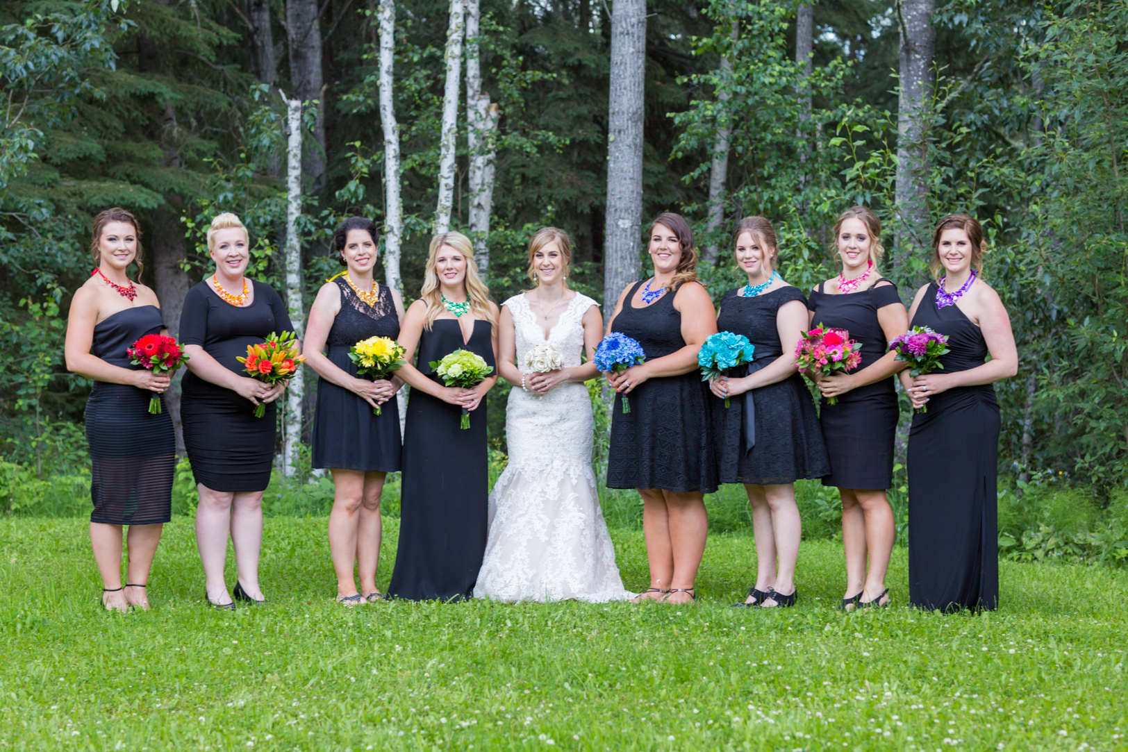 Photo of Bride with Bridesmaids