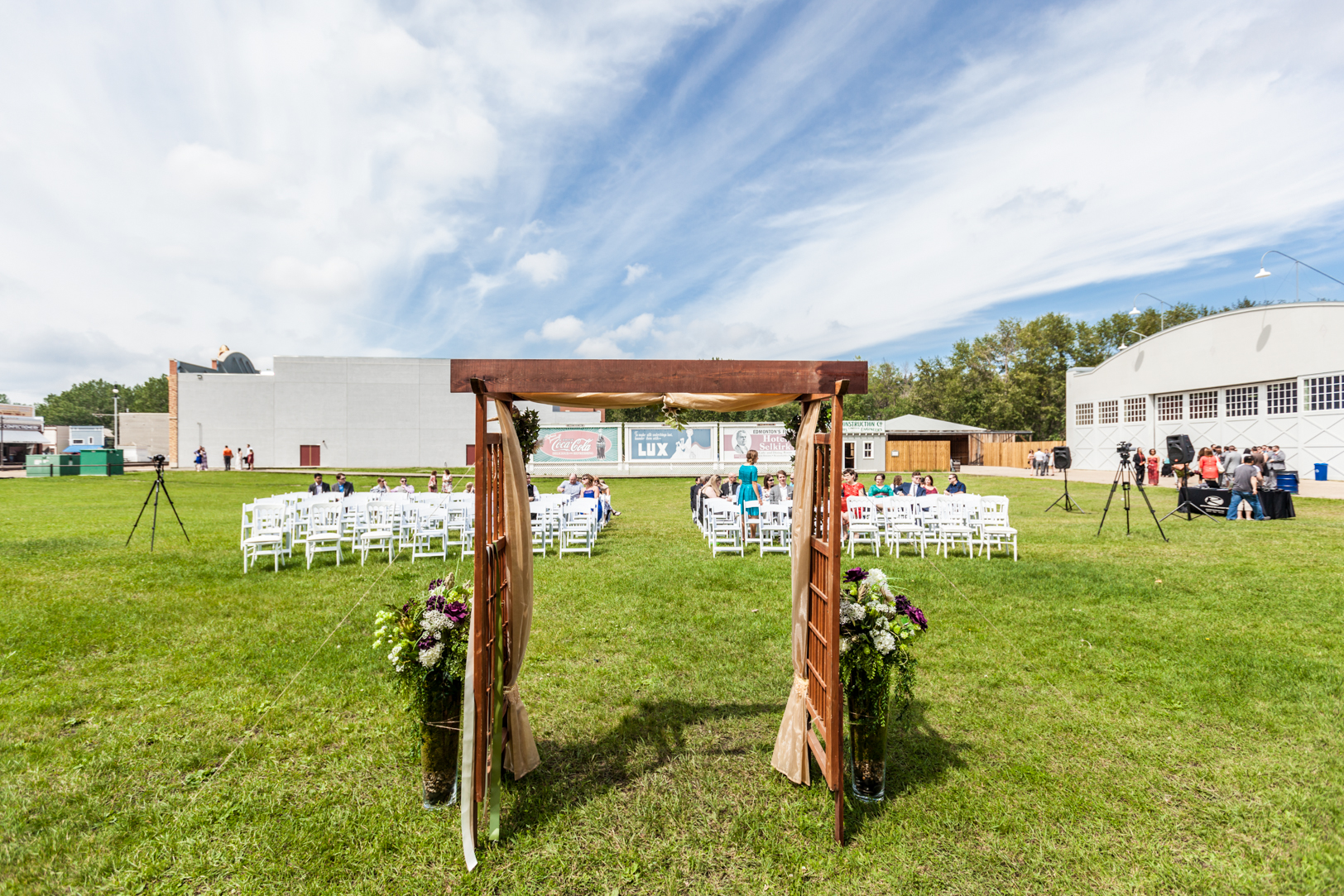 Blanchford Hangar Wedding Photos - Fort Edmonton Park Wedding