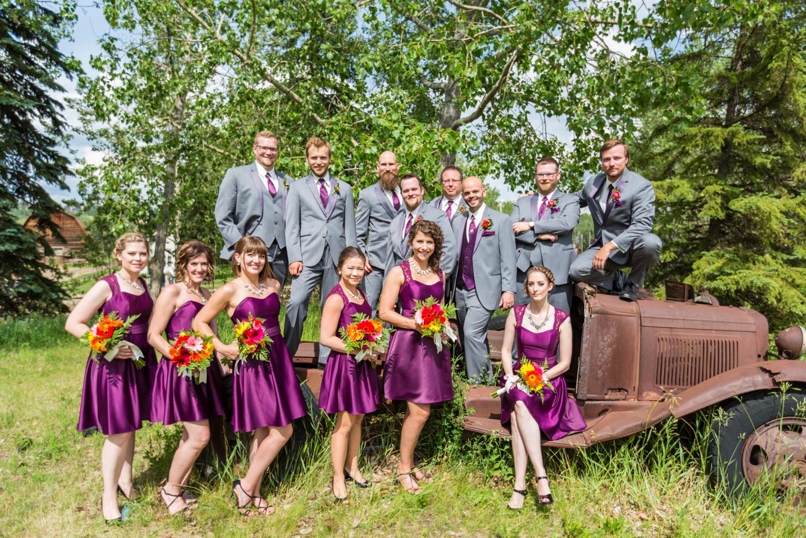Fort Edmonton Park Wedding Party Photos