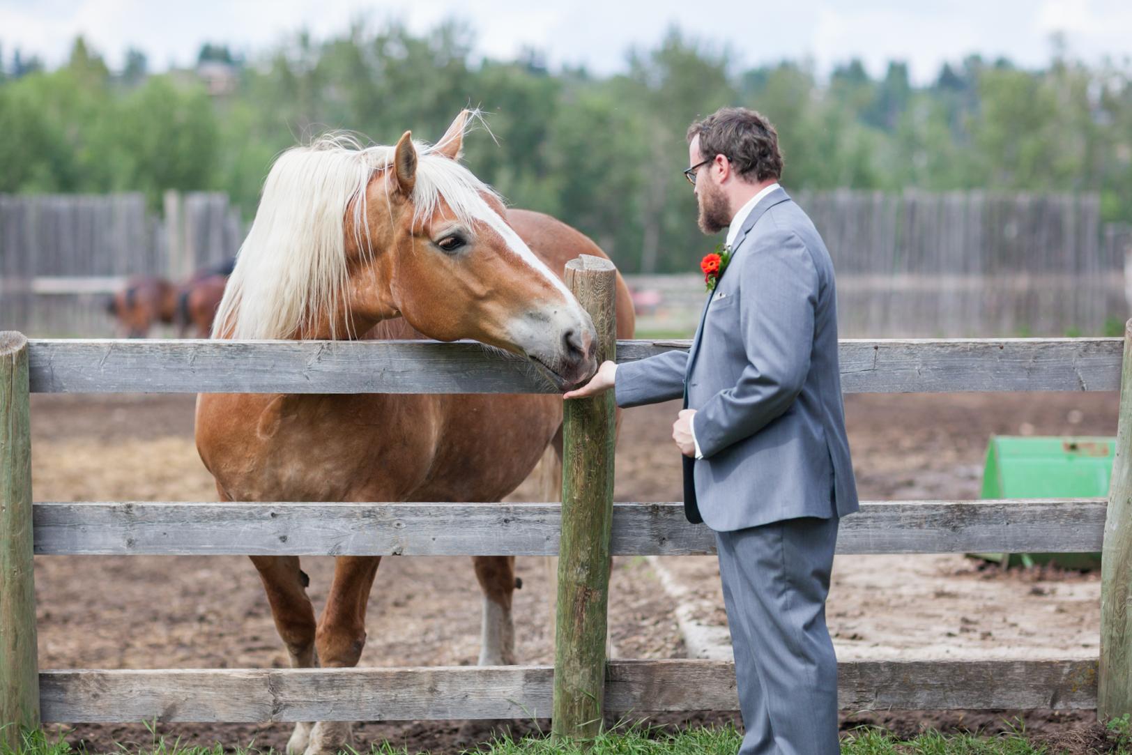 Fort Edmonton Park Portrait with Horses