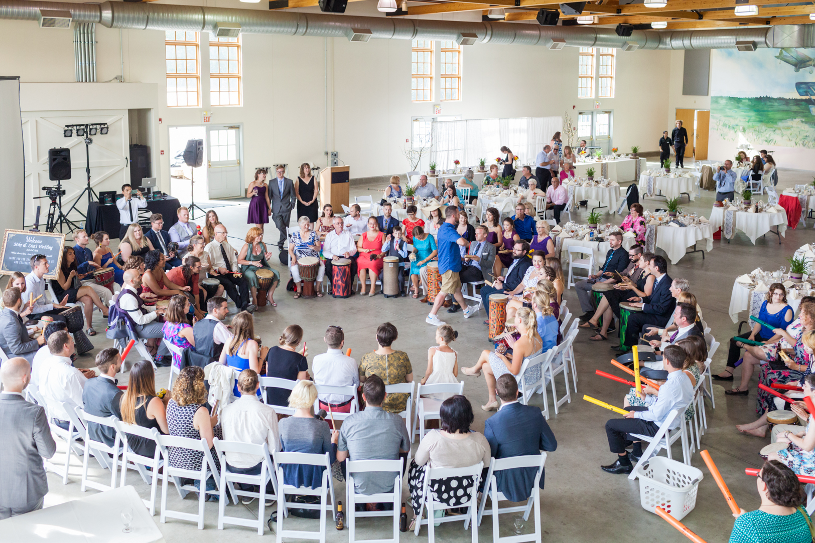 Blanchford Hangar Wedding Reception