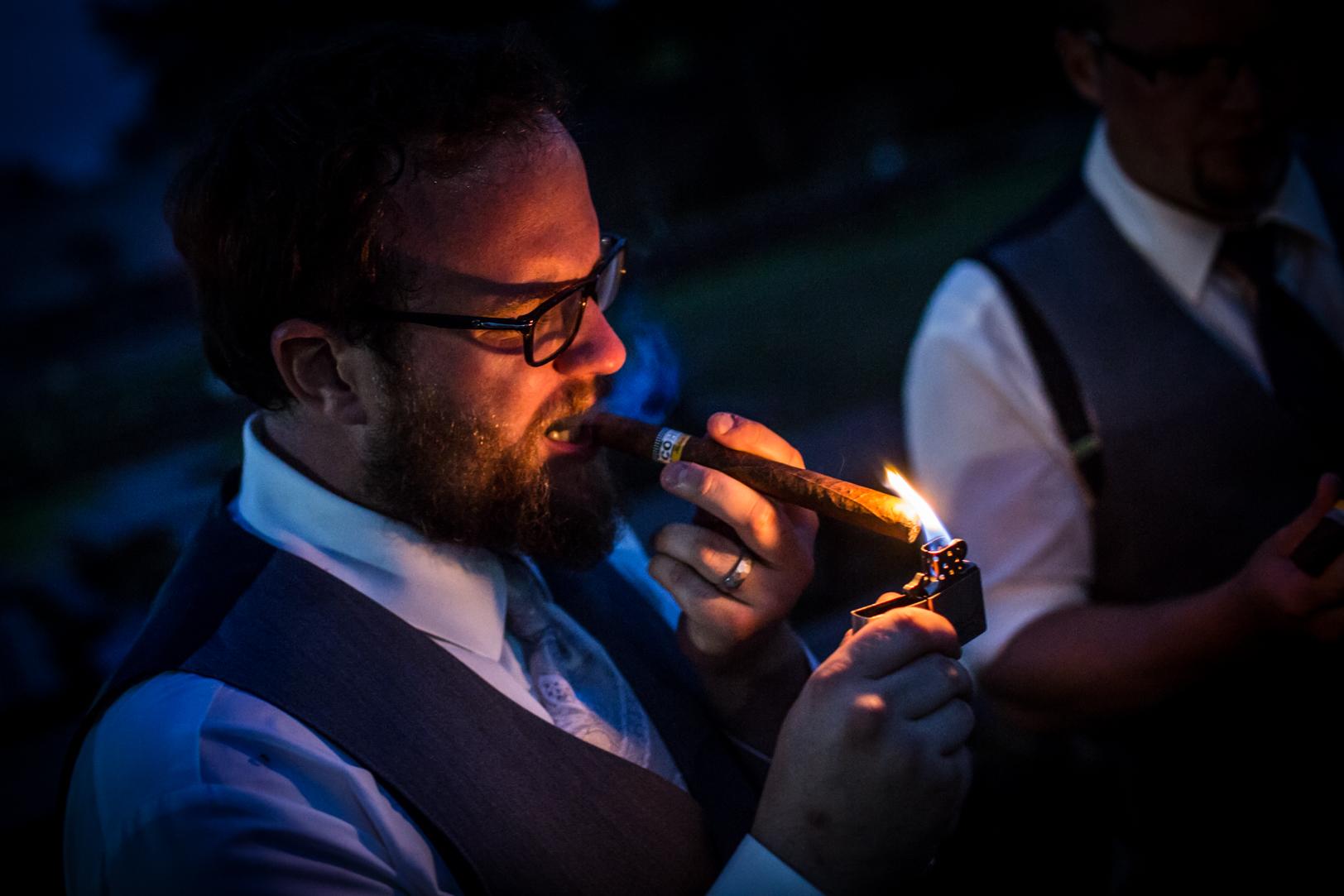 Cigar Smoking Photo