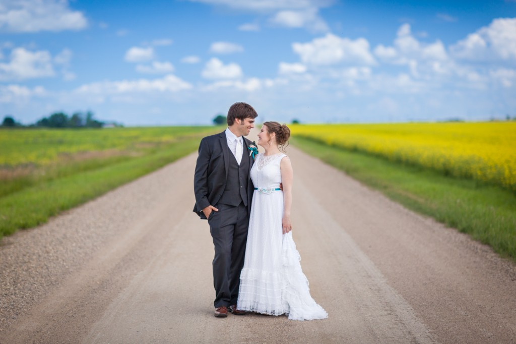 Canola Field Wedding Photos