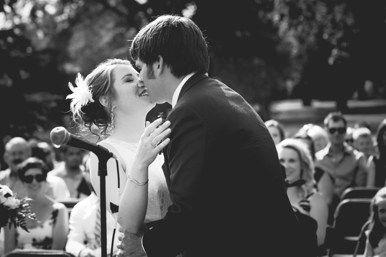 Wedding Ceremony First Kiss