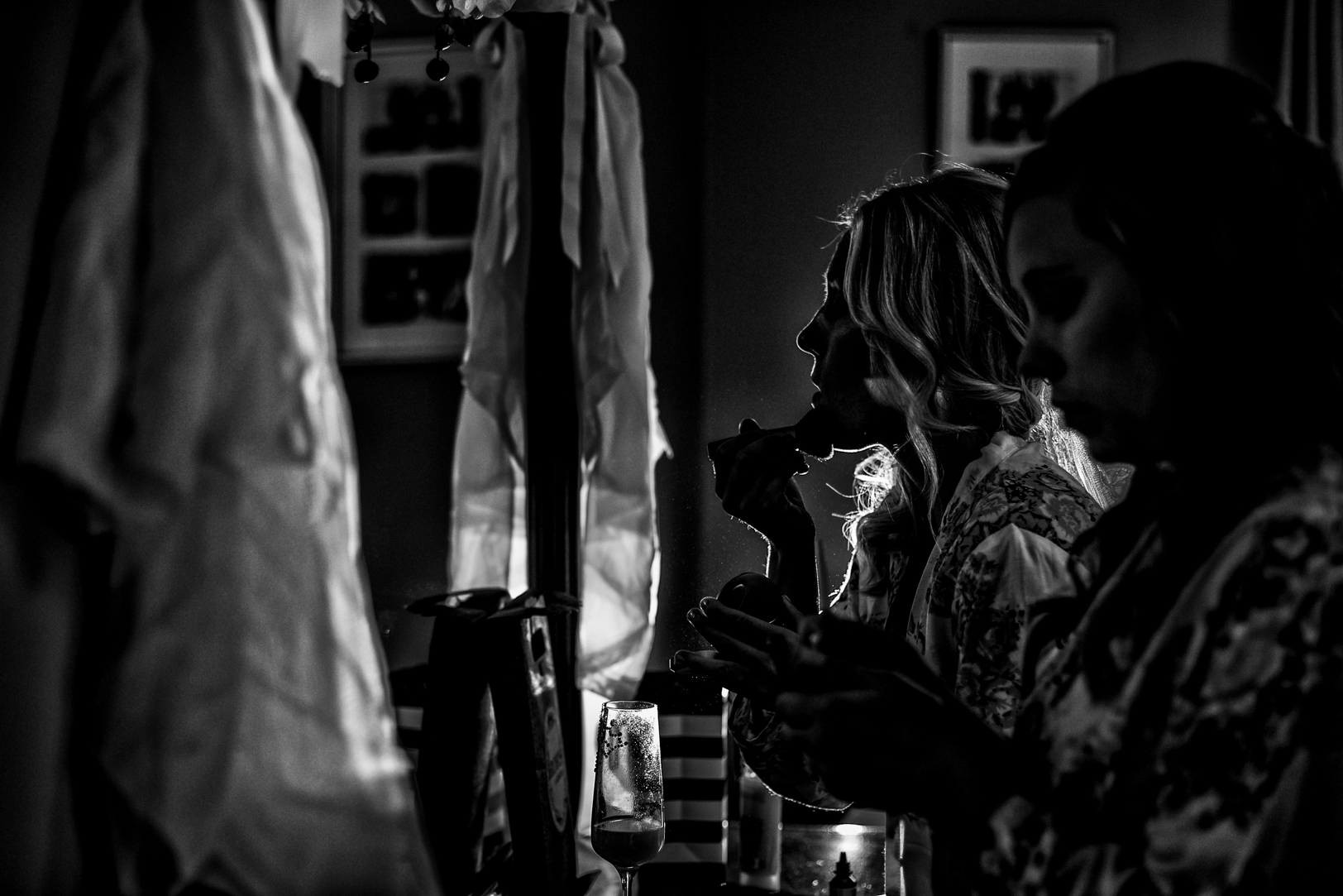 Photo of Bride Putting on Makeup