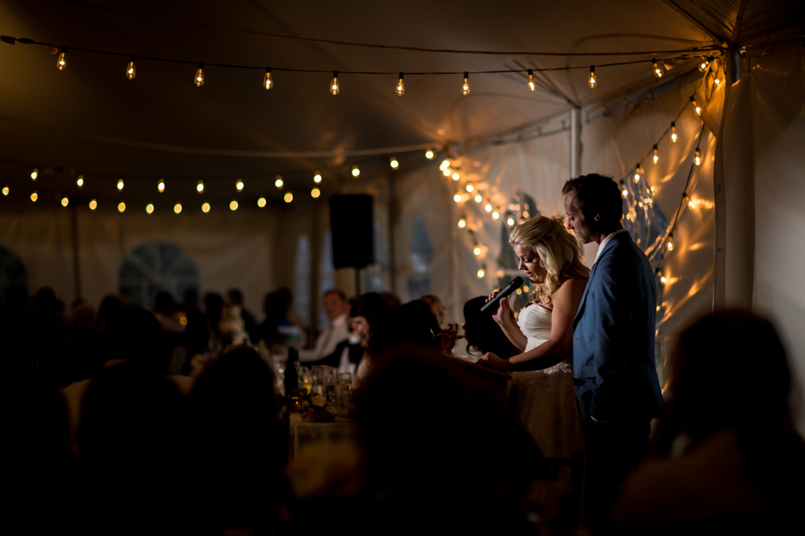 Outdoor Tent wedding reception pictures.