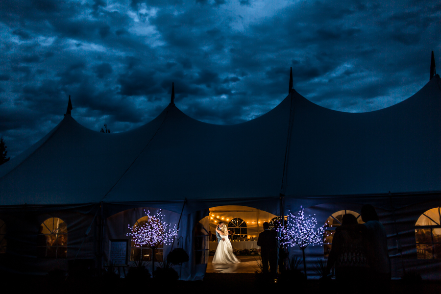 Outdoor Tent First Dance Pictures.