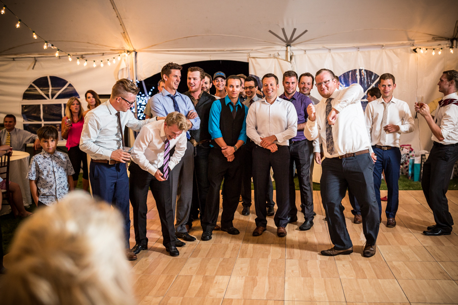 Barrhead wedding reception. Garter Toss