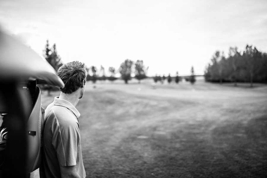 Elegant Country Wedding Edmonton - Golfing Groom.