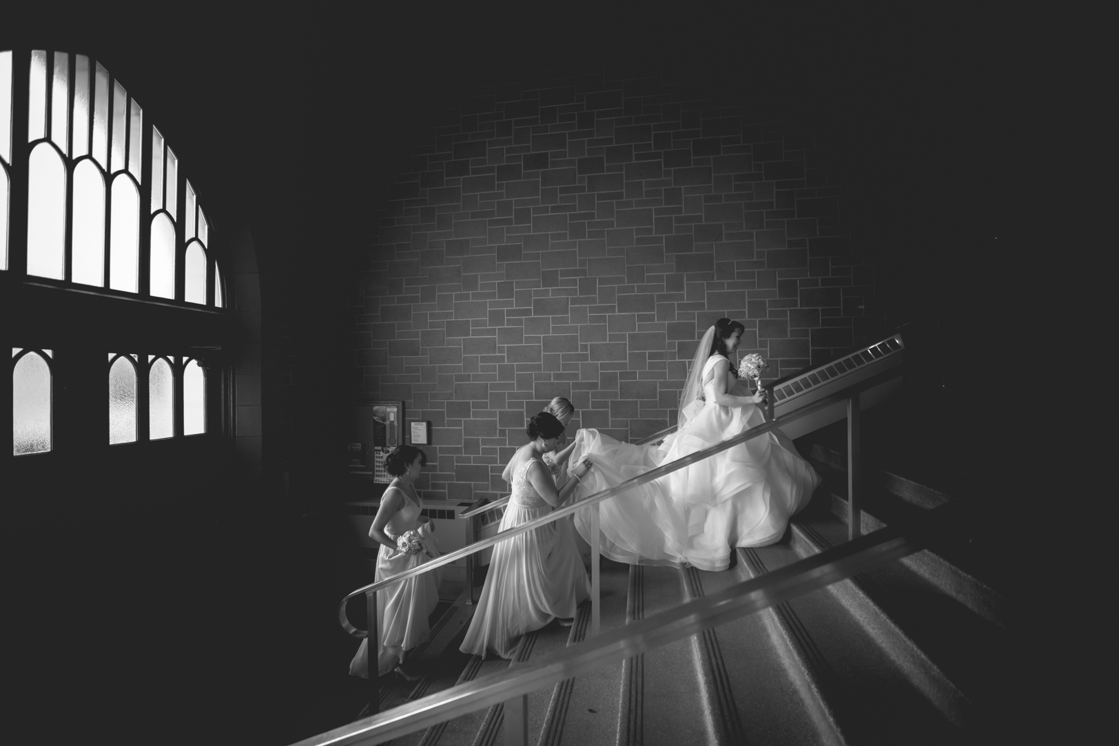Elegant Edmonton Basilica Wedding - Bride St Josephs Basilica Wedding.