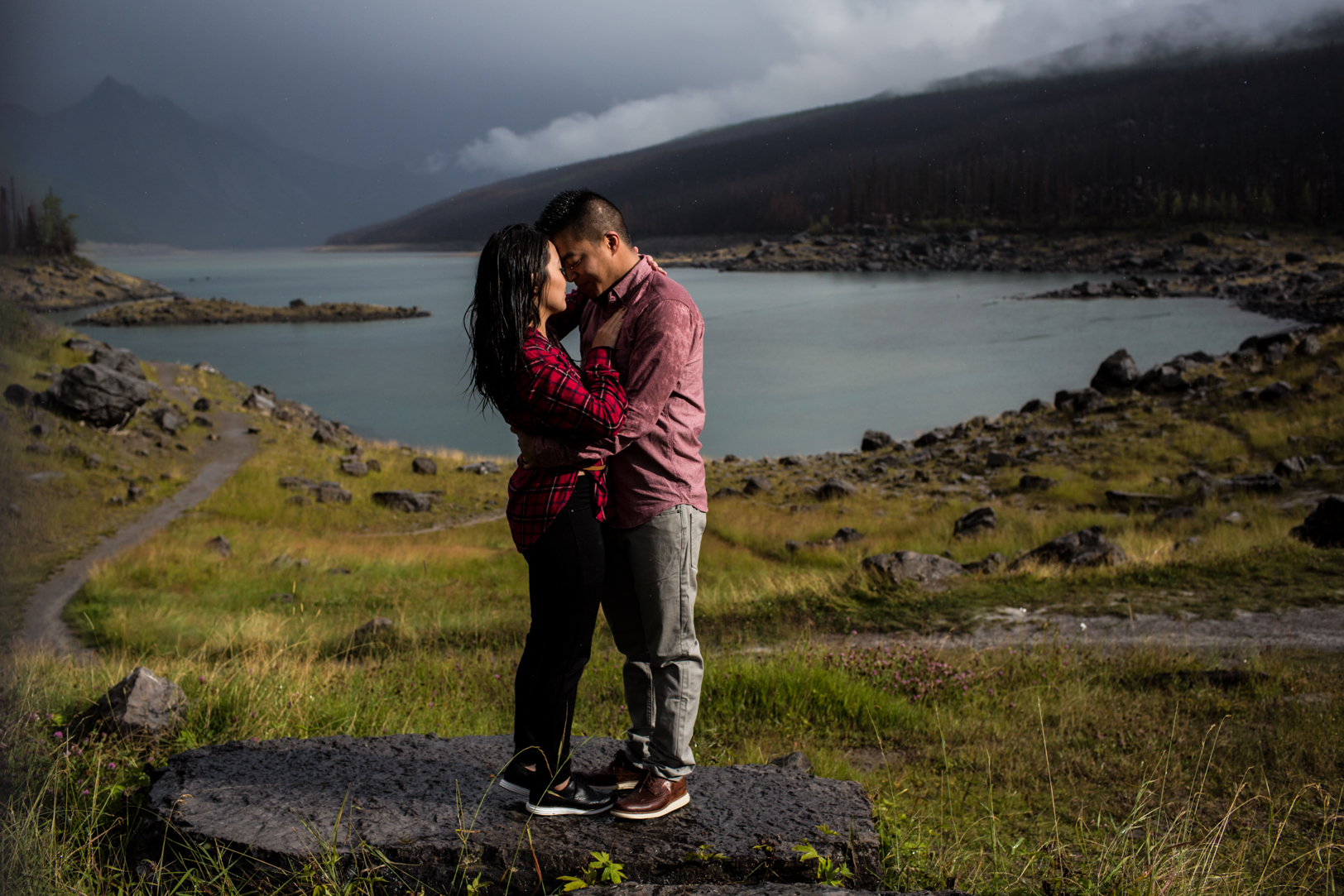 jasper lake engagement pictures