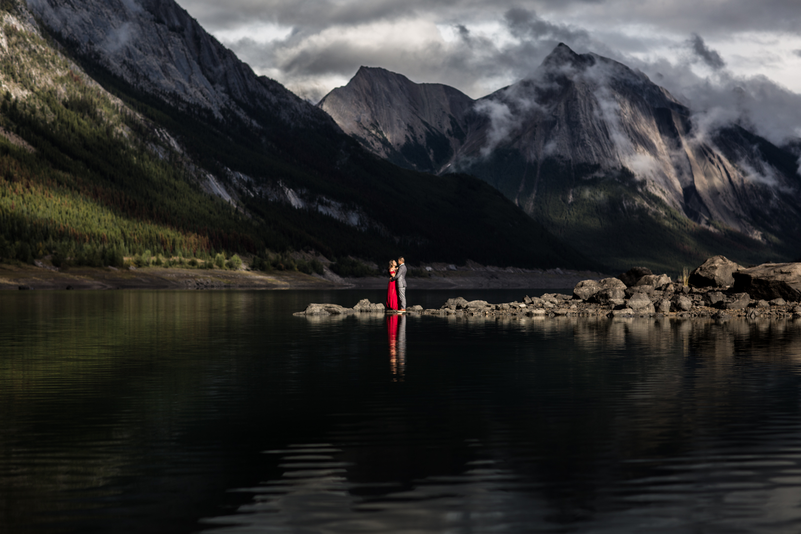 Medicine Lake Engagement Photos Jasper