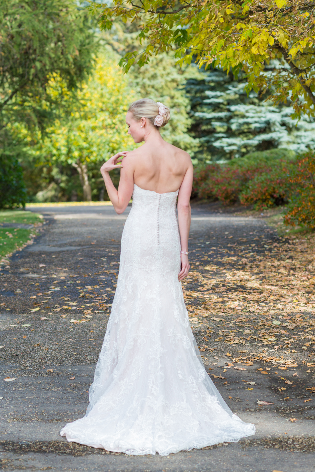 Bride's wedding portrait University of Alberta Botanic Garden