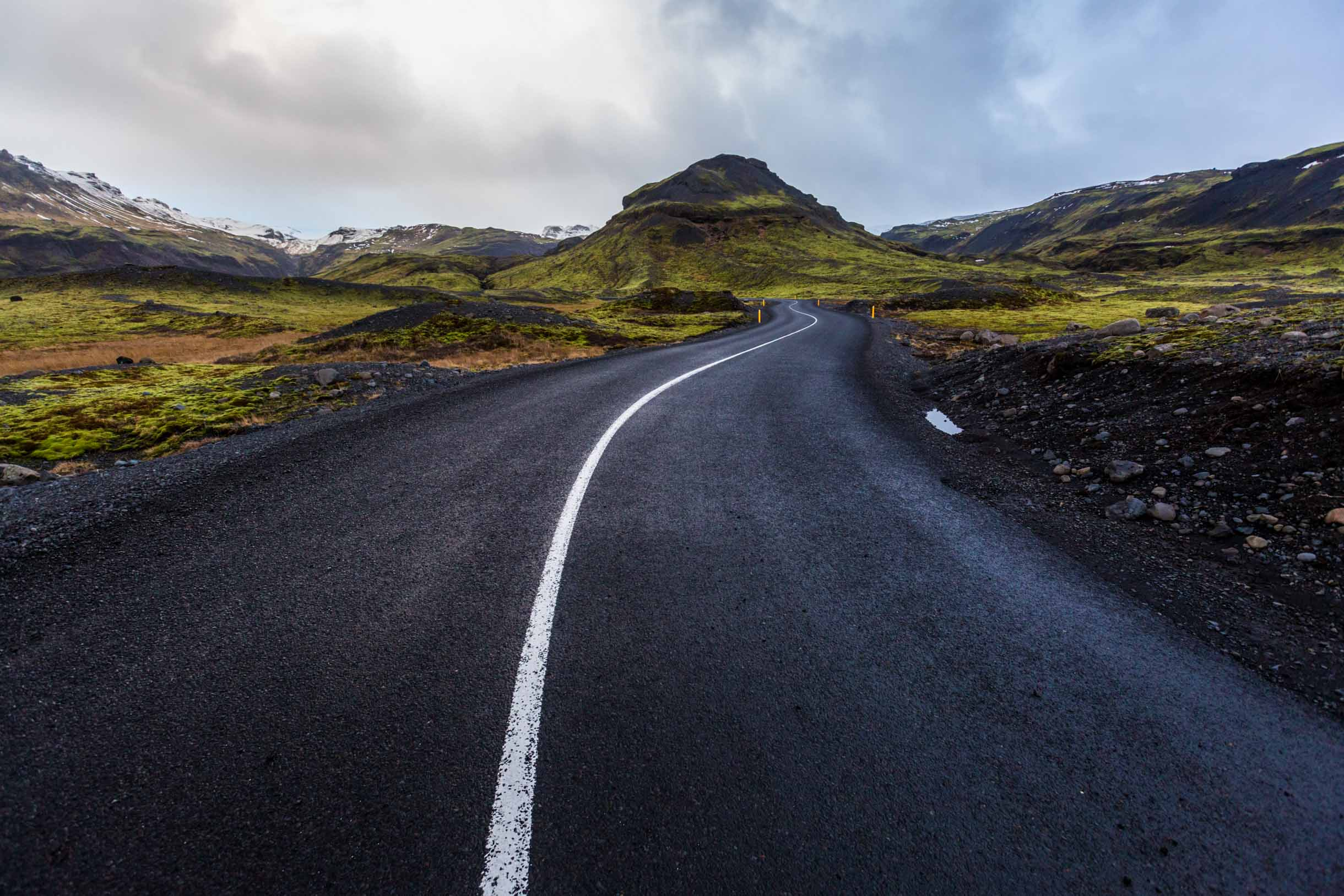highway road in iceland