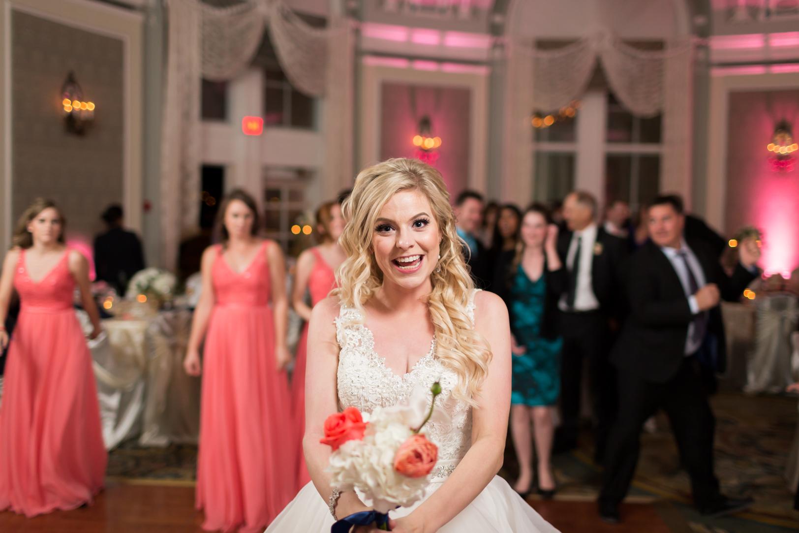 crazy bouquet toss photo