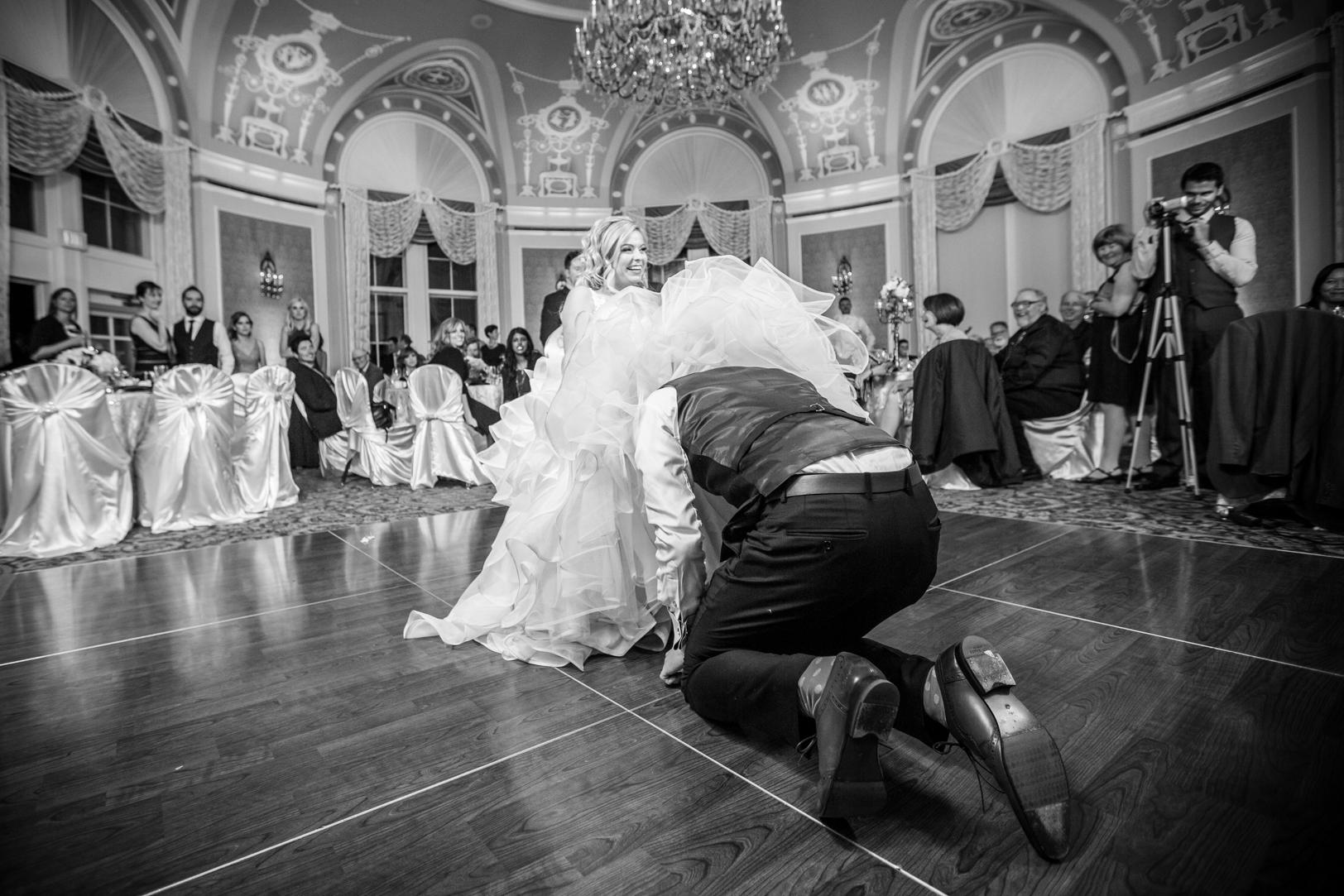 Epic garter toss photo