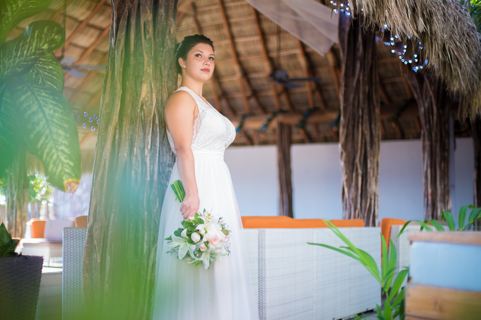 Picture of a bride at Sunscape Dorado Pacifico Ixtapa destination wedding
