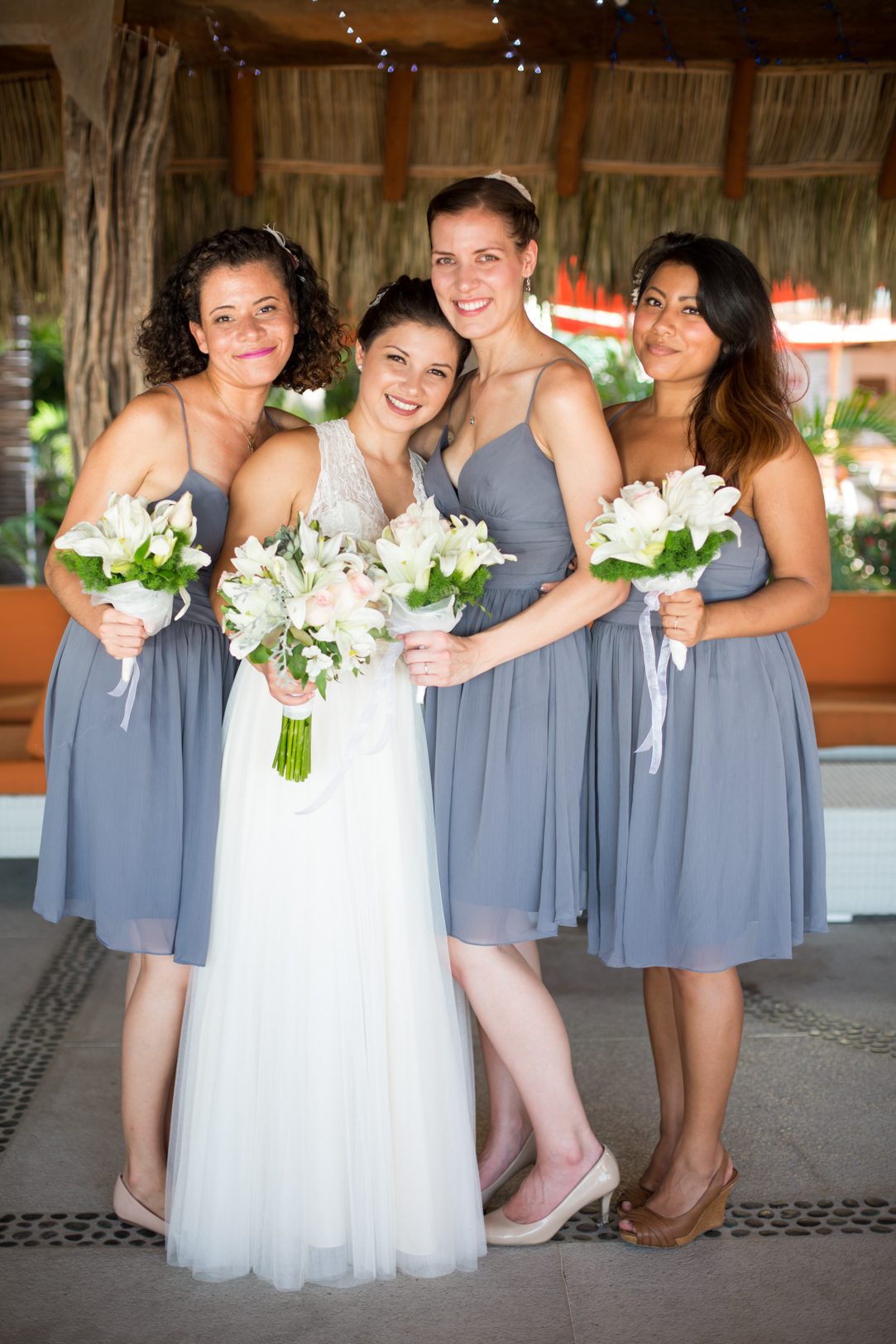 Brides maids at Sunscape Dorado Pacifico Ixtapa destination wedding