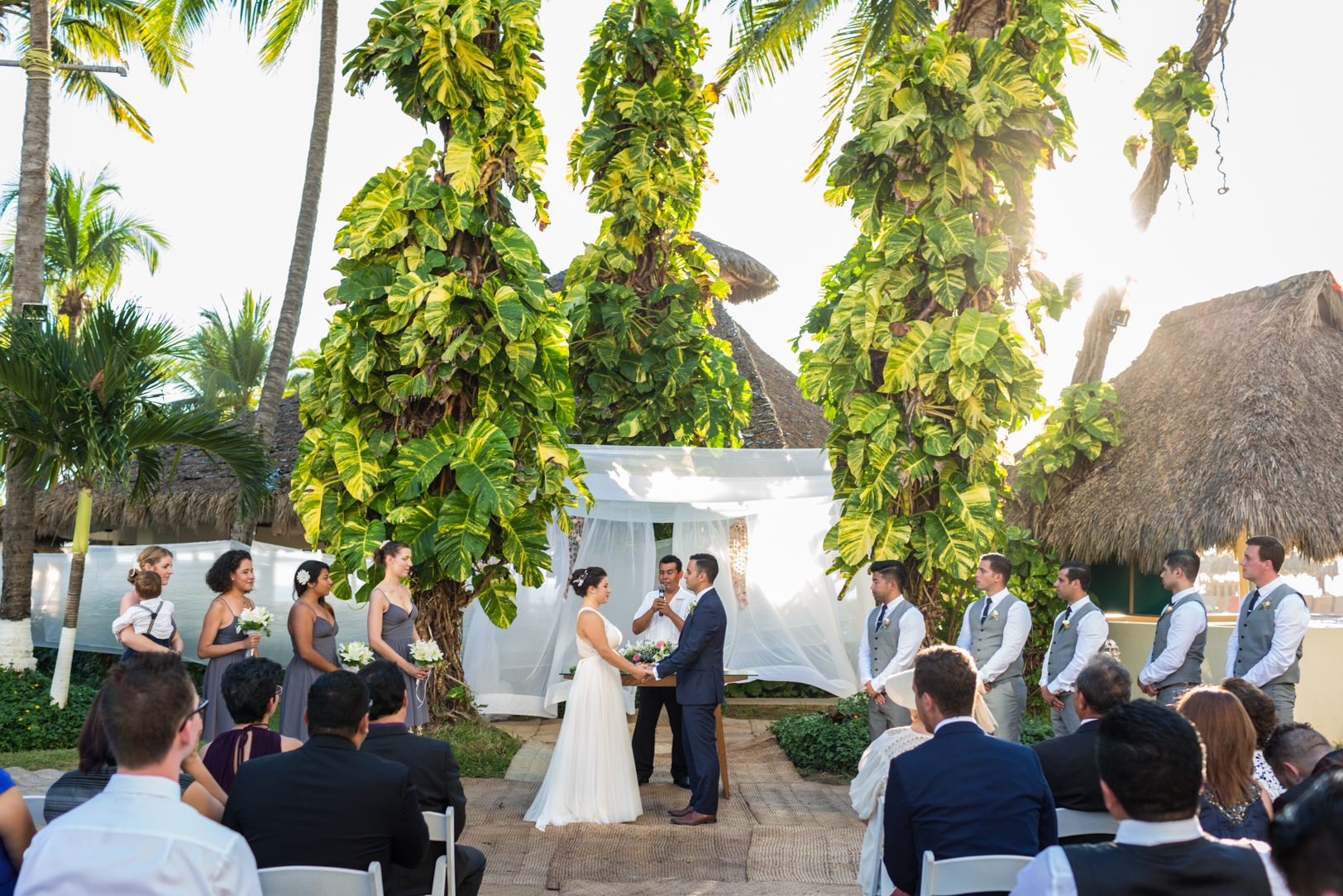 Sunscape Dorado Pacifico Ixtapa destination wedding ceremony picture