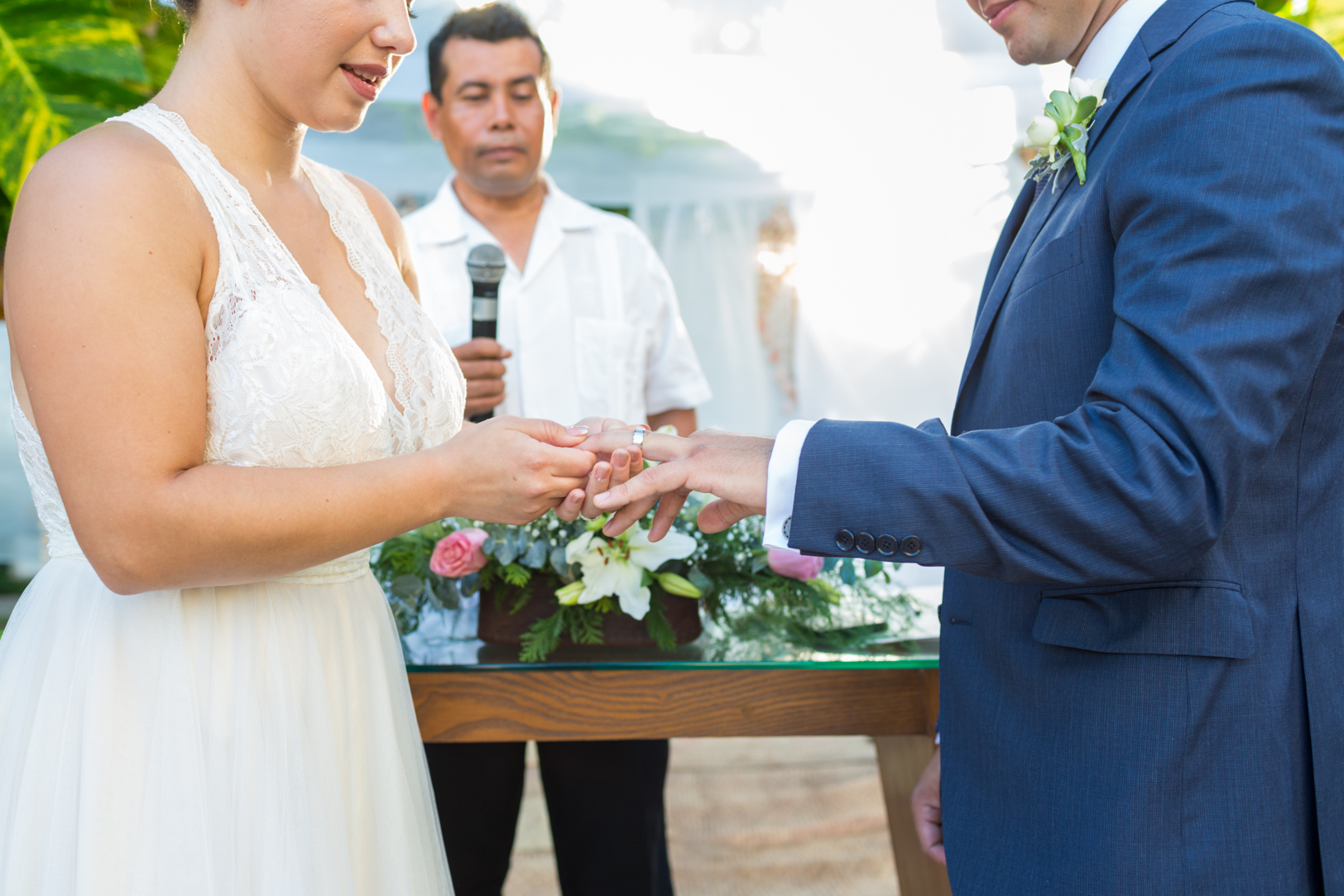 Ring exchange during Sunscape Dorado Pacifico Ixtapa destination wedding