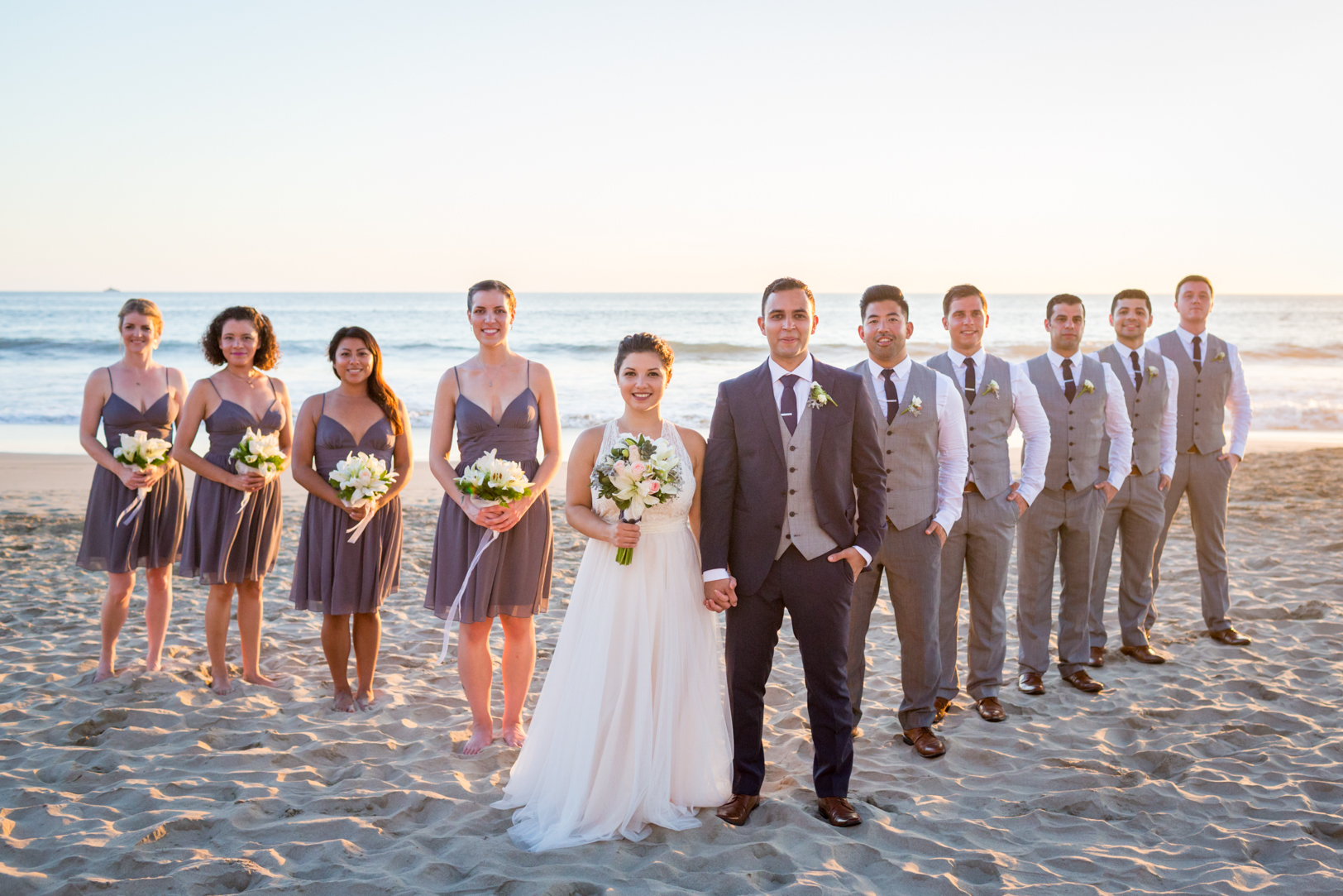 Bridal party portrait at Sunscape Dorado Pacifico Ixtapa destination wedding