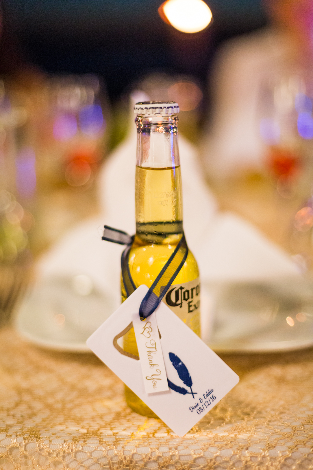Table gift from the wedding bottle opener