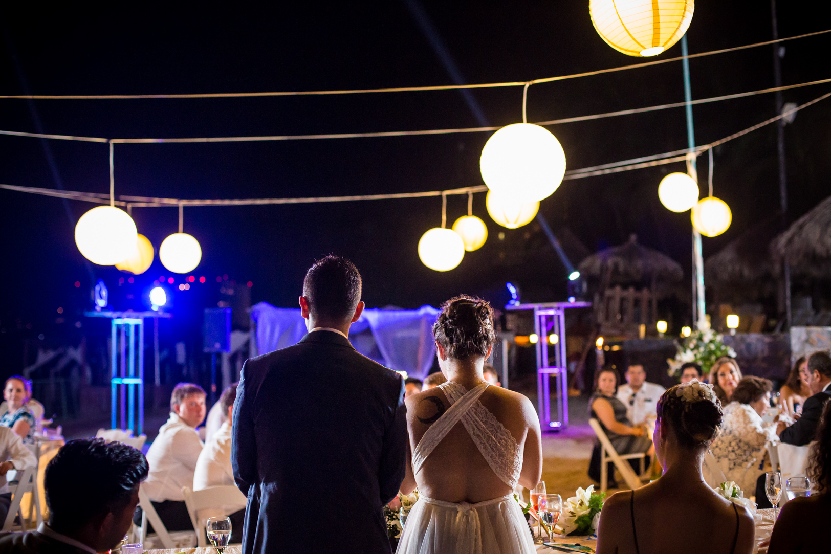 Bride and groom speech at their Sunscape Dorado Pacifico Ixtapa destination wedding