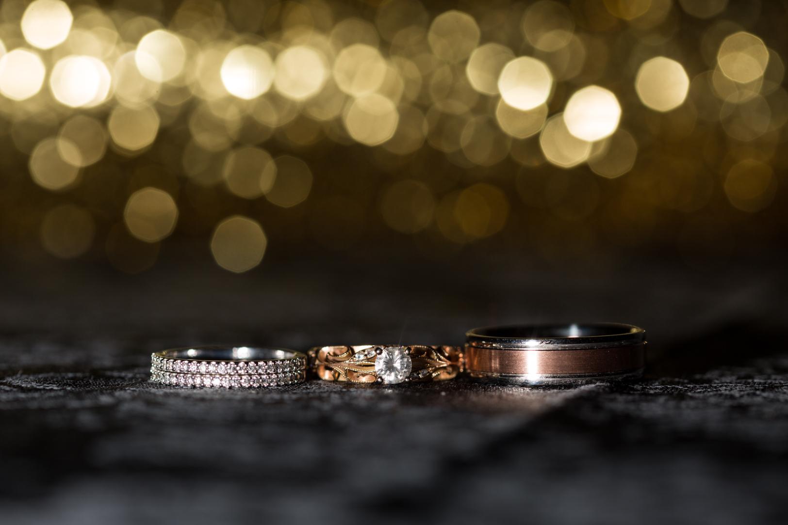 creative wedding rings photo - New Years Eve Wedding Edmonton