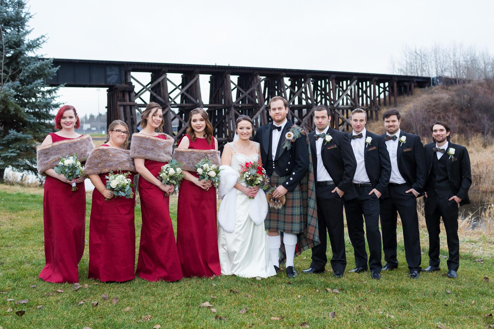 Autumn Wedding in Edmonton