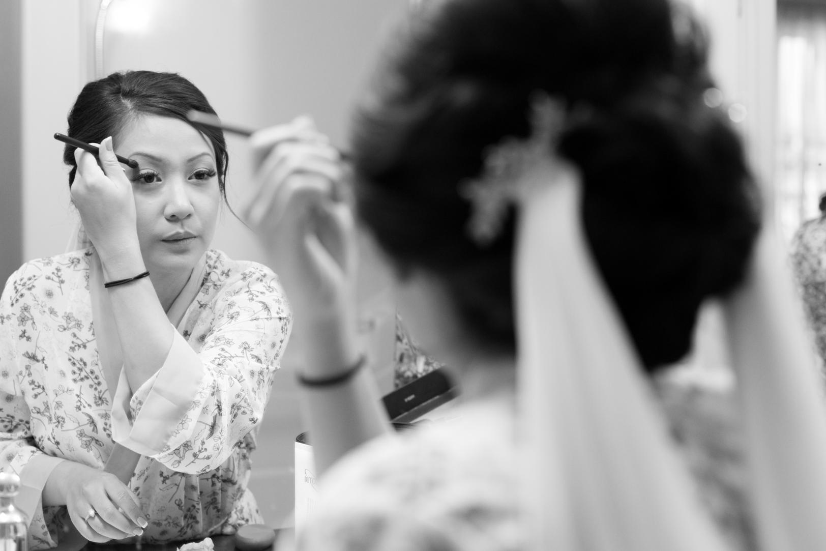 diy bride makeup