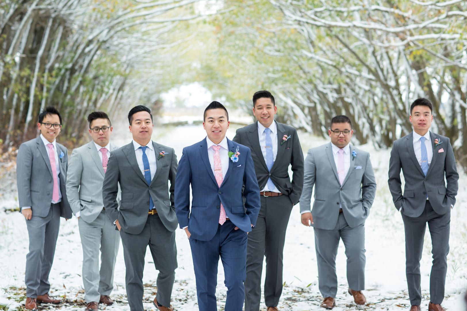 Groomsmen At An Edmonton Autumn Wedding