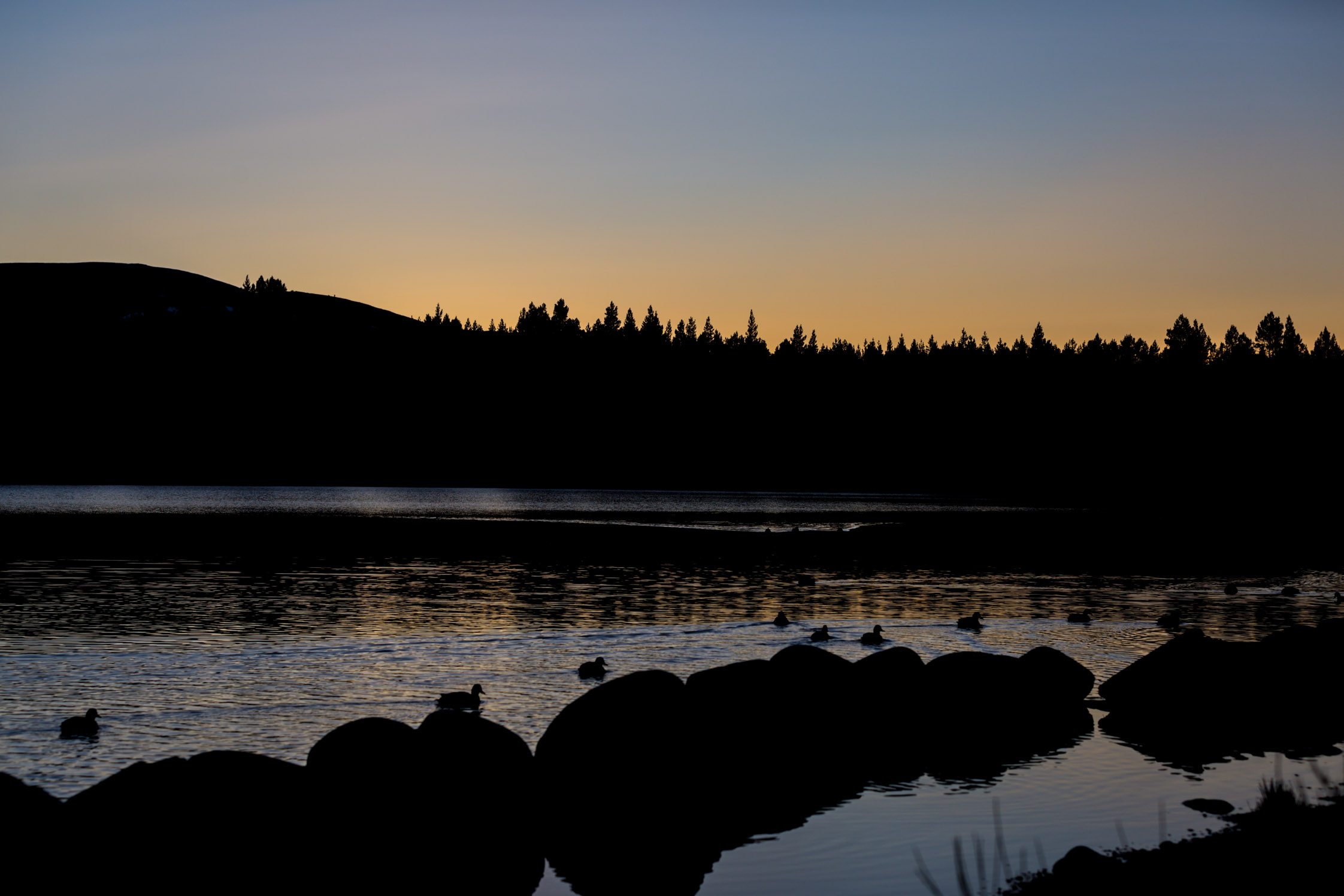 cairngorms national park sunset lake