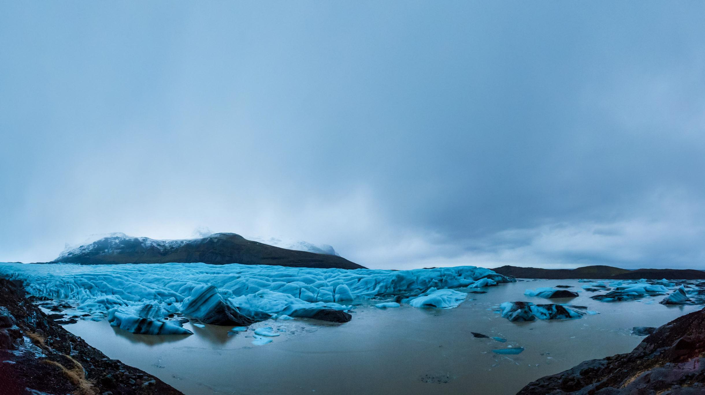 Iceland Glacier Lagoon Picture In Winter