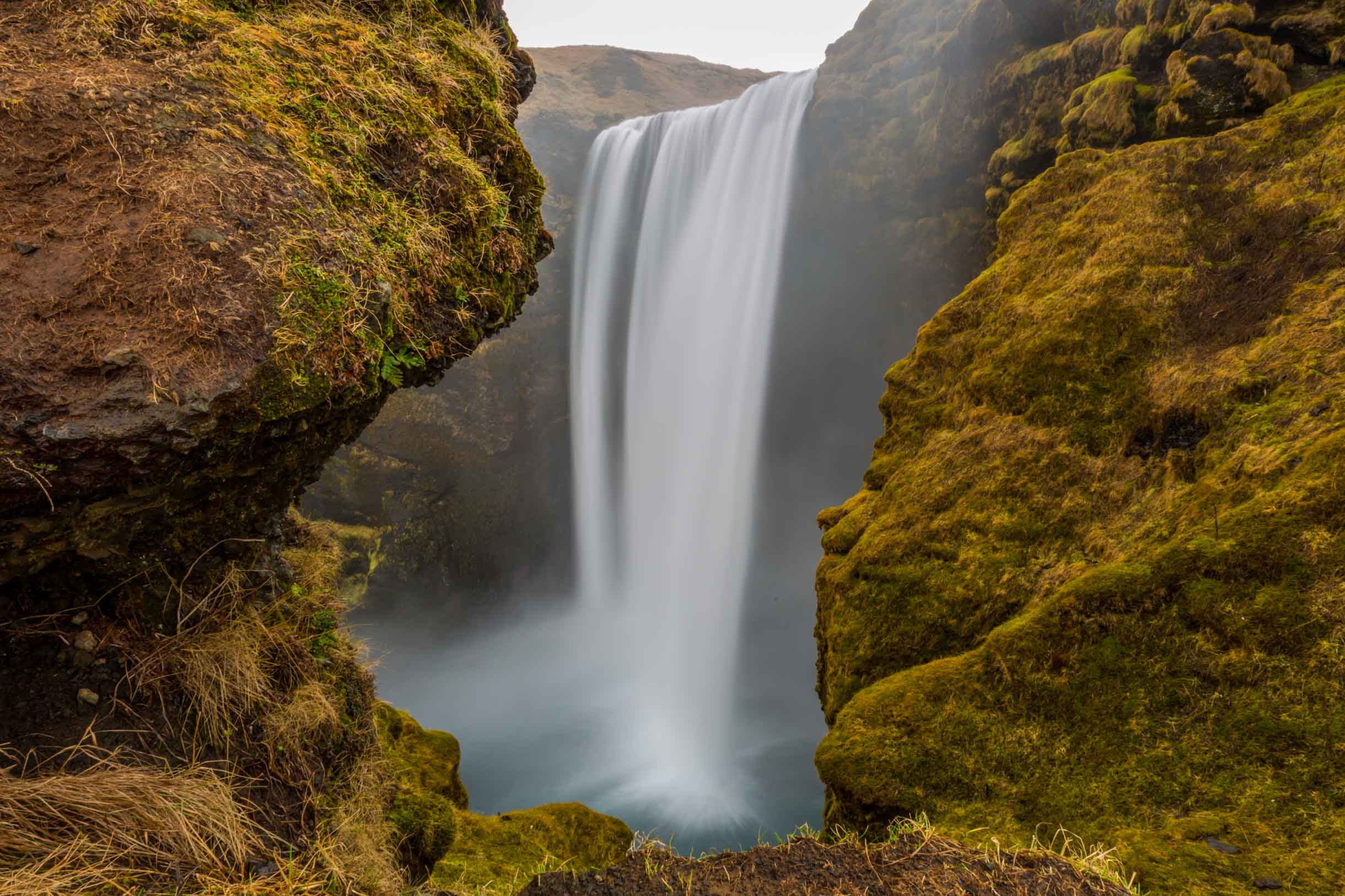 a cool picture of skogafoss waterfall iceland while we were exploring the Southern Iceland Waterfalls